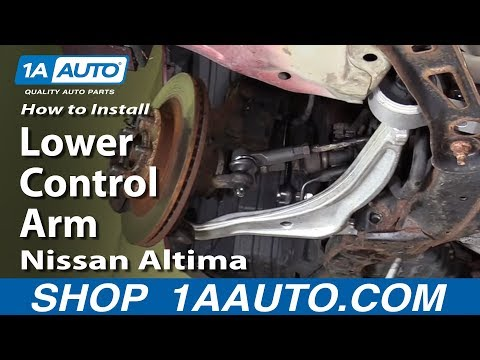 How To Install Replace Front Lower Control Arm 2002-06 Nissan Altima