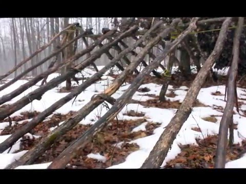 How-to Build a Winter Survival Shelter Tutorial