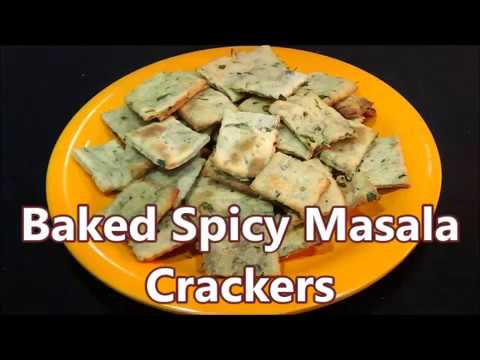 Baked Spicy  Masala Crackers