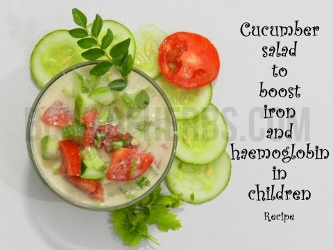 Cucumber salad to improve hemoglobin and iron in children