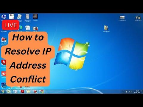 IP Address Conflict !! Resolve
