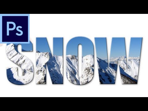 60 Second Photoshop Tutorial : Put an Image in Text -HD-