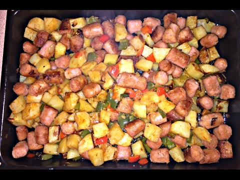 Sausage and pepper bake