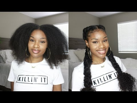 Effortless Messy Cornrows On Blown Out Natural Hair | Featuring Ali Grace