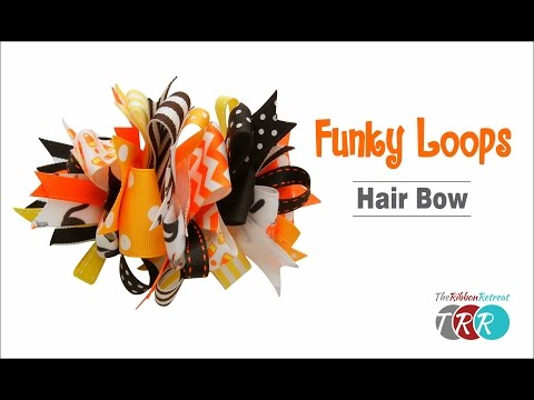 How to Make a Funky Loops Hair Bow - TheRibbonRetreat.com