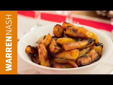 Roast Parsnips Recipe with Honey - 60 Second Vid - Recipes by Warren Nash