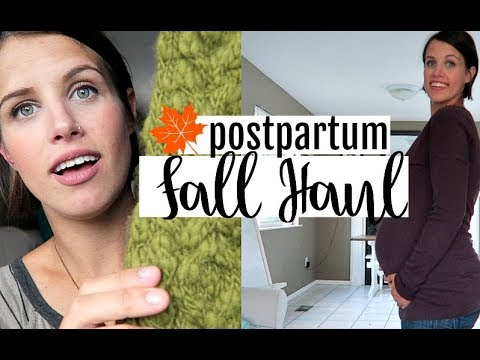 POSTPARTUM FALL CLOTHING HAUL | AFFORDABLE