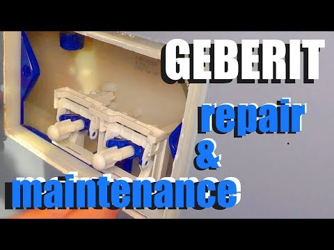 Geberit toilet repair and maintenance - How to
