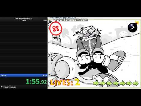 The Impossible Quiz Speedrun World Record in 4:24.88