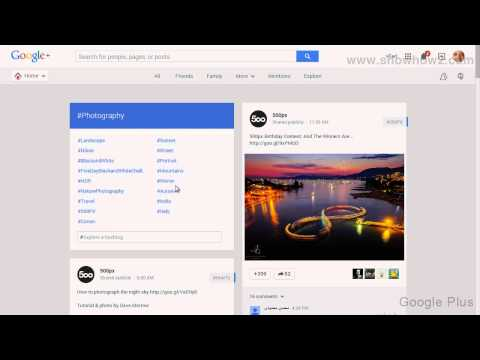 Google+ - How To See Photography Posts On Google Plus