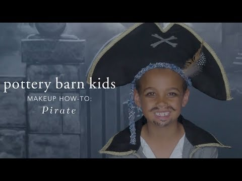 Easy Halloween Makeup Tutorial - Pirate Costume for Pottery Barn Kids