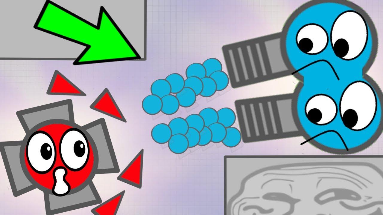 Diep.io NEW TOP 1000% FUNNY MAZE TROLLING ( Diepio fun ft wormate )