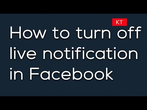 How to turn off live notification on Facebook