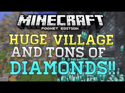 HUGE Village, DIAMONDS, & Dungeons Seed In MCPE! - Minecraft PE (Pocket Edition) BEST SEED!?