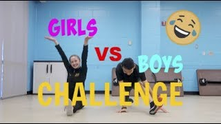 Girl VS Boy Challenge (Figure Skating Off Ice)
