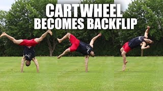 Learn Backflip Fast by Turning a Cartwheel into A Back Tuck