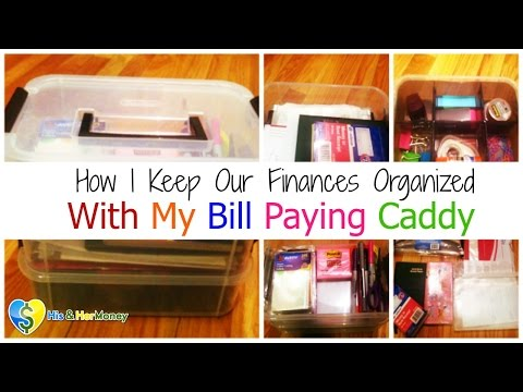 How I Keep Our Finances Organized With My DIY Bill Paying Caddy