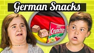 KIDS EAT GERMAN SNACKS | Kids Vs. Food