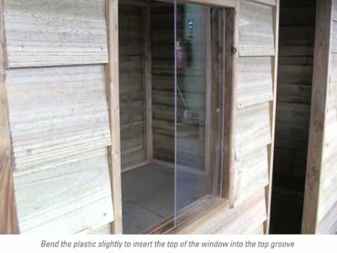 Video installation of a window to your cubby or fort - Country Cubbies