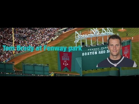 Tom Brady Red Sox Fenway park opening day 2017