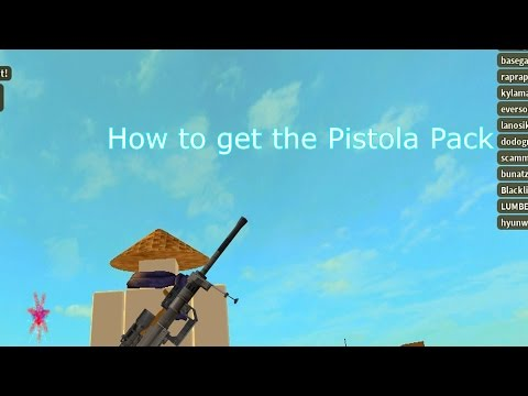 Roblox: How to get the Pistola Pack - Roblox Deathrun -