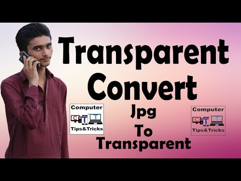 How to Quickly Convert a JPG to a Transparent PNG in Photoshop Cs6 In Urdu/Hindi By Ismail Panhwer