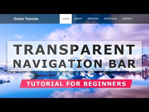 How to Create Transparent Navigation Bar with Cool Hover Effects - Html CSS tutorial For Beginners