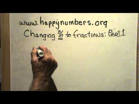 Changing Percents to Fractions Part 1