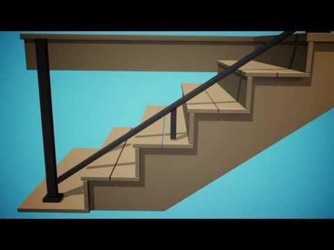 TimberTech Impression Rail Stair Installation – Deck Railing