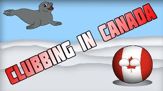 Countryballs Animated   Clubbing in Canada