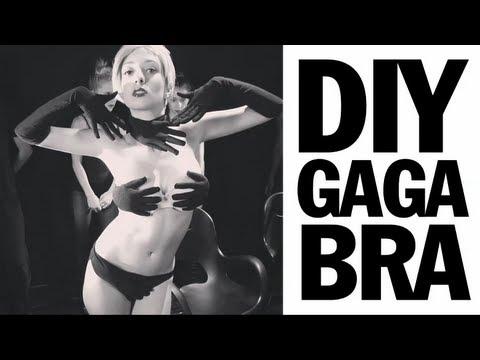 Lady Gaga Glove Bra Tutorial, Applause Video
