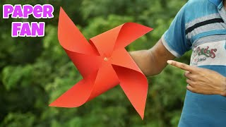 Wind Powered Rotating Paper Fan || Easy Paper Craft