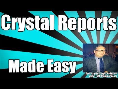 How to use Crystal Reports subreports to merge reports - crystal reports tutorial