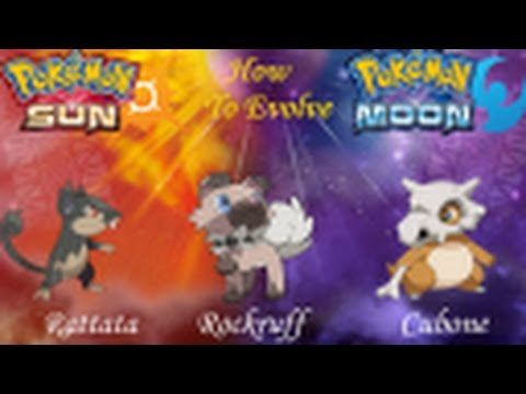 Pokemons that evolve during Night time in Sun and Moon