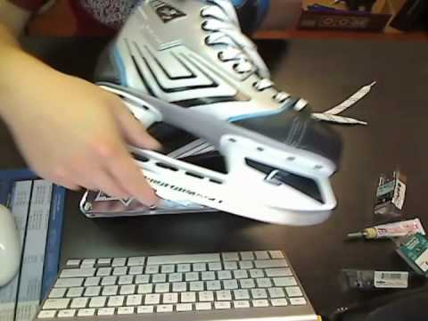 How to mount inline chassis frame to ice hockey boots, sprung on ccm