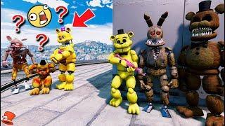 NOOB vs PRO ANIMATRONICS! (GTA 5 Mods For Kids FNAF RedHatter)