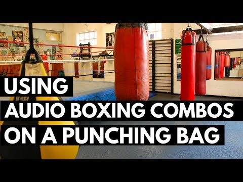 Fitness Boxing - Using Audio Boxing Combos on a Punching Bag