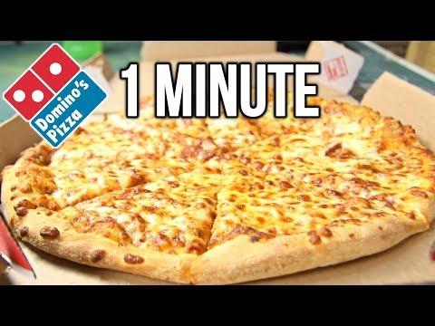 Domino's Medium Pizza in 1 Minute Challenge (vs MATT STONIE vs L.A. BEAST)