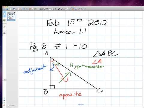 Labeling a Right angle Triangle Grade 12 college Lesson 1 1 02:15:12