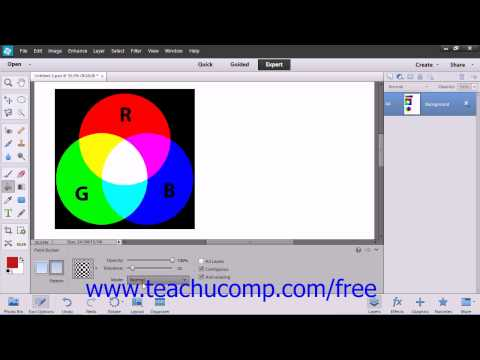 Photoshop Elements 12 Tutorial Using the Paint Bucket Tool Adobe Training Lesson 9.2