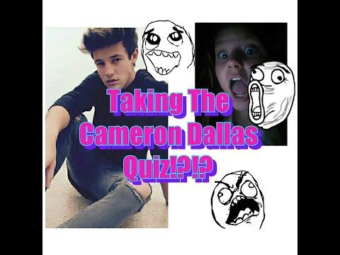 Taking the Cameron Dallas Quiz?!?!