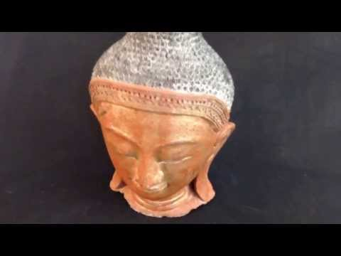 Buddha Heads Statues -- Largest collection of original and antique Buddha heads.