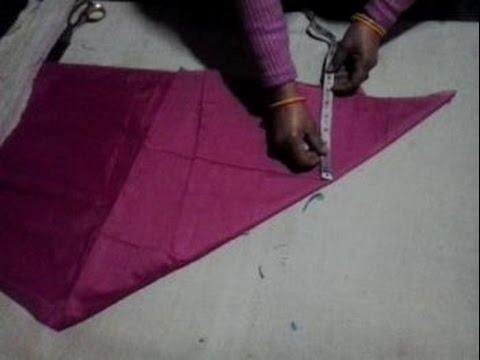 umbrella frock cutting in hindi