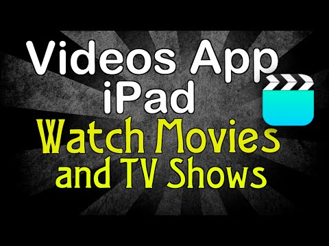 Play movies and TV shows using the Videos app on the iPad