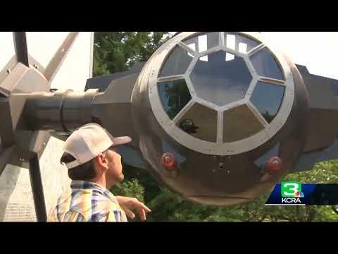Man builds 'Star Wars' spaceship on Turlock almond farm