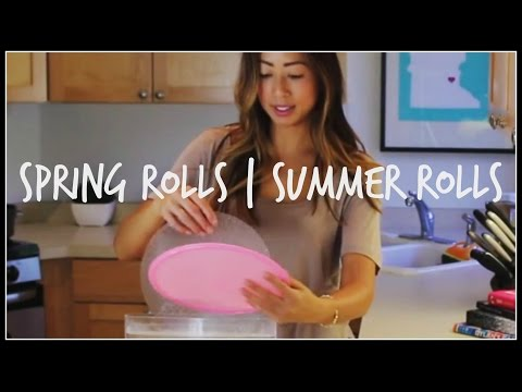 How to make FRESH SPRING ROLLS | Summer Rolls | House of X Tia