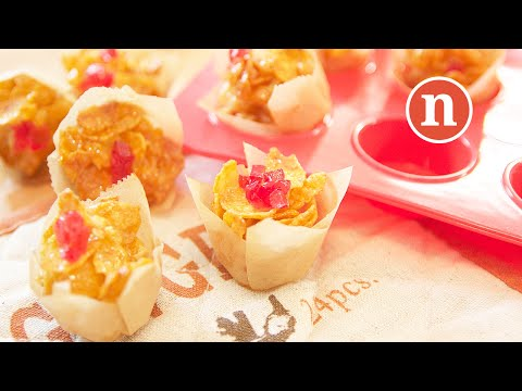 Honey Cornflakes Cookies | Biskut Cornflakes Madu | Honey Joys [Nyonya Cooking]