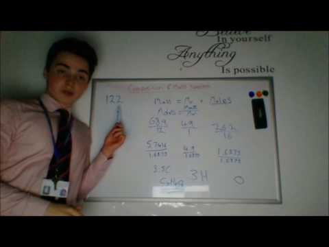Calculating Molecular and Empirical Formula from % Compositions and Mass Spectra (AS Chemistry)