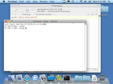 Macintosh: Using TextWrangler to Develop Python Programs