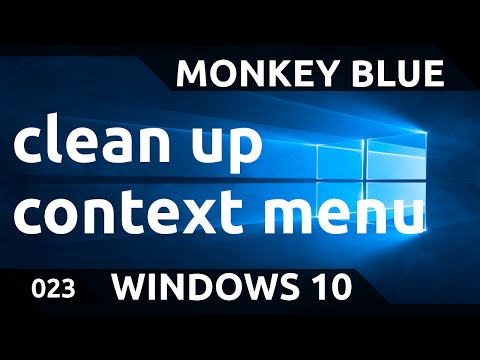 Windows 10: how to clean up messy context menu and delete items with ShellMenuView